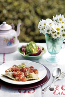 Plate of ravioli in sauce