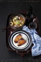 Grilled fish and amberjack miso soup 20056007967| 写真素材・ストックフォト・画像・イラスト素材|アマナイメージズ