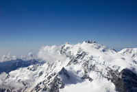 Aerial view of the Monte Rosa (Italian), the highest mountain in Switzerland, Valais, Switzerland 20056009032| 写真素材・ストックフォト・画像・イラスト素材|アマナイメージズ