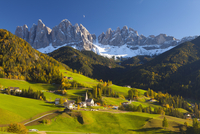 St. Magdalena, Val di Funes, Trentino-Alto Adige, Dolomites, South Tyrol, Italy, Europe