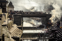 Pashupatinath cremation ghats alongside the Bagmati River, UNESCO World Heritage Site, Kathmandu, Nepal, Asia