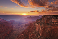 Cape Royal Viewpoint at sunset, North Rim, Grand Canyon National Park, UNESCO World Heritage Site, Arizona, United States of Ame