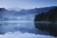 Lake Matheson, Mount Tasman and Mount Cook, Westland Tai Poutini National Park, UNESCO World Heritage Site, West Coast, Southern
