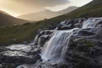 Heljardalsa waterfall in Saksunardalur valley near Saksun, Streymoy, Faroe Islands (Faroes), Denmark, Europe