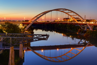 Cumberland River and Gateway Bridge, Nashville, Tennessee, United States of America, North America