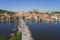 St. Vitus Cathedral, Charles Bridge, River Vltava and the Castle District, UNESCO World Heritage Site, Prague, Czech Republic, E