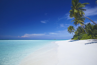 Tropical beach and lagoon, Maldives, Indian Ocean, Asia