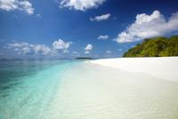 Tropical beach, Baa Atoll, Maldives, Indian Ocean, Asia