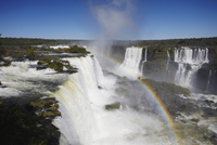 Garganta do Diablo (Devil's Throat) Falls at Iguacu Falls, Iguacu National Park, UNESCO World Heritage Site, Parana, Brazil, Sou