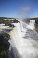 Garganta do Diablo (Devil's Throat) Falls at Iguacu Falls, Iguacu National Park, UNESCO World Heritage Site, Parana, Brazil, Sou