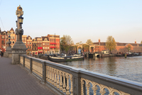 Blauwbrug, bridge over the Amstel River, Amsterdam, Netherlands, Europe