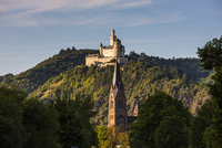 The Marksburg in the Rhine valley, Rhineland-Palatinate, Germany, Europe