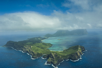 Aerial of Lord Howe Island, UNESCO World Heritage Site, Australia, Tasman Sea, Pacific