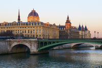 The Conciergerie on the Cite Island, the banks of the River Seine, UNESCO World Heritage Site, Paris, France, Europe