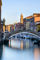 Early morning light on Rio Ognissanti in Dorsoduro, Venice, UNESCO World Heritage Site, Veneto, Italy, Europe