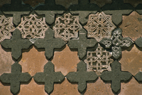 Detail of stonework, Seljuk Turk Palace, Ani, northeast Anatolia, Turkey, Asia Minor, Eurasia