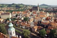 Cesky Krumlov, UNESCO World Heritage Site, encircled by River Vltava, Cesky Krumlov, South Bohemia, Czech Republic, Europe