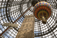 Melbourne Central Complex incorporates restored Shot Tower beneath glass cone, Melbourne, Victoria, Australia, Pacific