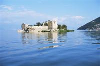 Old prison island of Grmozur, Lake Skadar, Montenegro, Europe