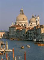 The Church of Santa Maria della Salute, and the Grand Canal, from the Academia Bridge, Venice, UNESCO World Heritage Site, Venet