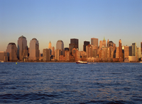 Lower Manhattan skyline post Sept 11, New York City, United States of America, North America