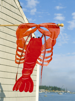 Lobster sign on the Maine coast, New England, United States of America, North America