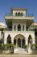 Palacio de Valle, a lavish building decorated with Moorish, Gothic and Venetian, Cienfuegos, Cuba, West Indies, Central America