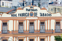 A building housing a cigar factory in central Havana, Cuba, West Indies, Central America