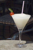 A frozen daiquiri served on the roof terrace of the Park Central Hotel, Havana, Cuba, West Indies, Central America