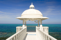 The wedding pavilion at the Hotel Melia Rio de Oro on the Playa Esmeralda, Guardalavaca, eastern Cuba, Cuba, West Indies, Centra