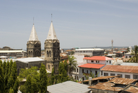 A view of the Stone Town skyline including the twin spires of St. Joseph's Catholic Cathedral, Stone Town, UNESCO World Heritage