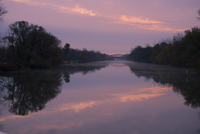 Sunset on The Erie Canal, New York State, United States of America, North America