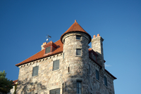 Singer Castle on Dark Island on the St. Lawrence River, New York State, United States of America, North America
