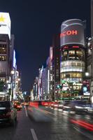 San-ai building and Chuo-dori at the intersection with Harumi-dori, Ginza, Tokyo, Japan, Asia
