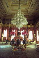 The Red Room, Dolmabahce Palace, Istanbul, Turkey, Europe