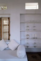 Zen ambiance instilled into an old farm house conversion now a residence, Amber, near Jaipur, Rajasthan state, India, Asia