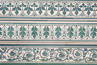 Detail of painted decoration, the Shiv Niwas Palace Hotel, Udaipur, Rajasthan state, India, Asia