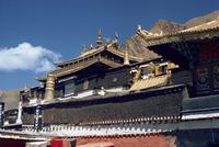 The buildings at Tashilumpo monastery at Xigaze, Tibet, China, Asia