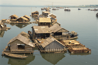 Houses in the fishing village of Langa in south Vietnam, Indochina, Southeast Asia, Asia