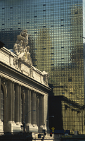 Contrast between Grand Central Station and the Graybar Building, Manhattan, New York City, United States of America, North Ameri