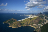 Overlooking Copacabana Beach from Sugarloaf (Sugar Loaf) Mountain, Rio de Janeiro, Brazil, South America