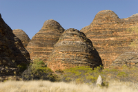 Sandstone hills in The Domes area of Purnululu National Park (Bungle Bungle), UNESCO World Heritage Site, Western Australia, Aus