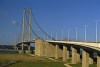 The Humber Bridge seen from the south, Humberside-Yorkshire, England, United Kingdom, Europe