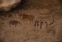 Tassili rock paintings, UNESCO World Heritage Site, Algeria, North Africa, Africa