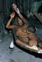 Amazonian Indian woman spinning, Brazil, South America