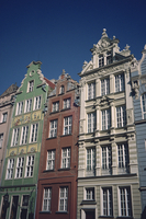 Houses with restored facades in Dlugi Targ in Gdansk, Poland, Europe