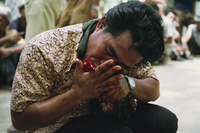 Bajau people cockfighting, Kota Belud, Sabah, Malaysia, Southeast Asia, Asia