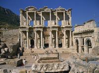 The Celsus Library, Ephesus, Anatolia, Turkey, Asia Minor, Asia