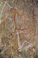 Dancing figures at Nourlangie Rock, aboriginal shelter and rock art site in Kakadu National Park, UNESCO World Heritage Site, No 20062008098| 写真素材・ストックフォト・画像・イラスト素材|アマナイメージズ