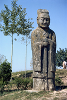Tang statue at the Chunling Tombs, ten kilometers northwest of Xian, China, Asia 20062008722| 写真素材・ストックフォト・画像・イラスト素材|アマナイメージズ